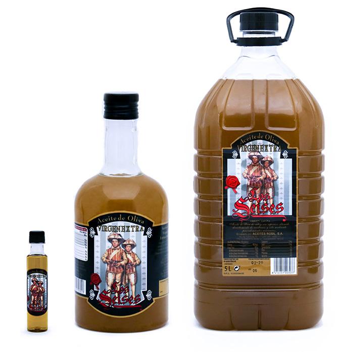 Botellas Aceites Los Seises - Productos Aceites Rosil