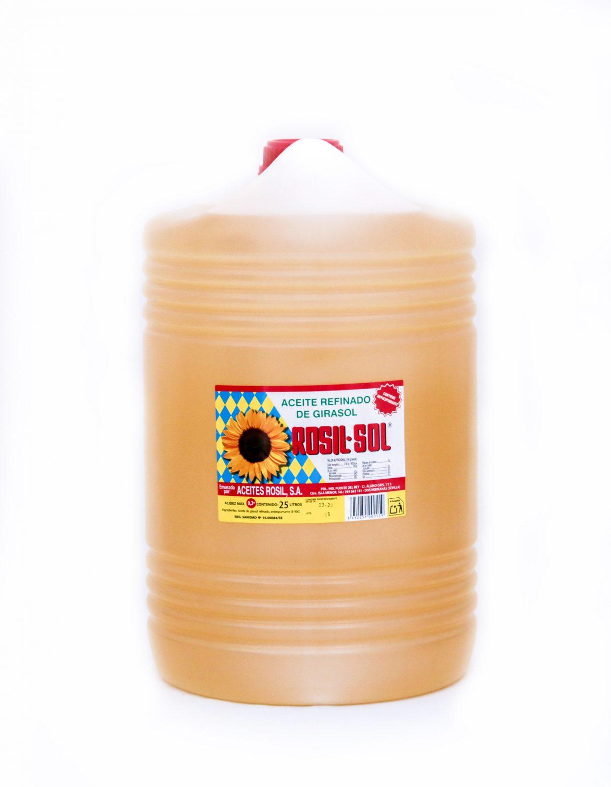 Aceite de girasol refinado y winterizado