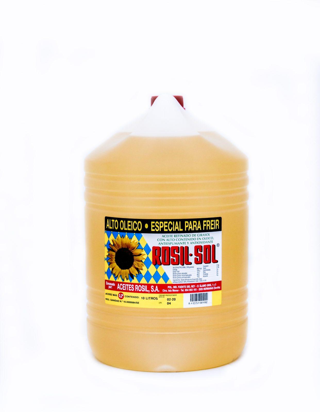 Aceite de girasol refinado y winterizado alto-oleico