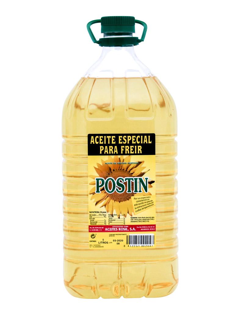 Aceite de girasol especial para freír Postín